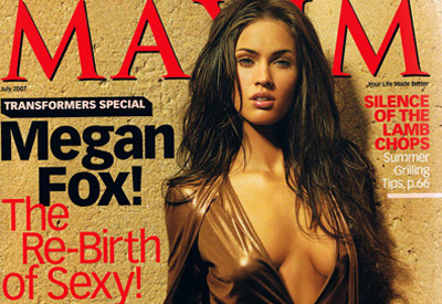 megan fox transformers maxim